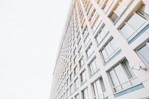 Facade of contemporary skyscraper
