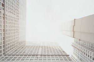 white&grey residential skyscraper