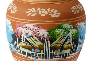 painted clay pottery