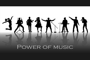 Power of music concept. Vector