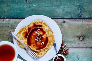 Sweet baked pancakes