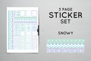 Planner Sticker Set - Snowy