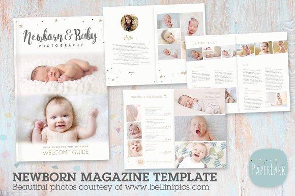 Pg023 newborn photography magazine magazine templates creative market