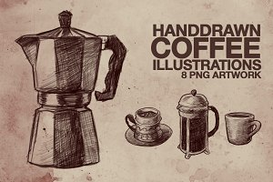 Hand Drawn Coffee Illustrations