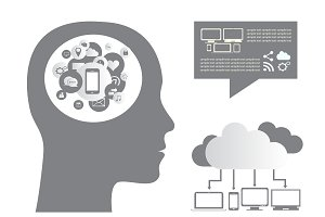 Cloud computing infographic media