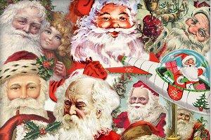 Vintage Santa Claus Larger PNGS