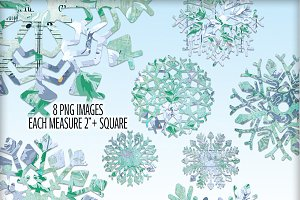 Floral Ephemera Snowflake Blendables