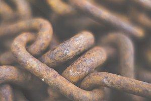 metal rough chains