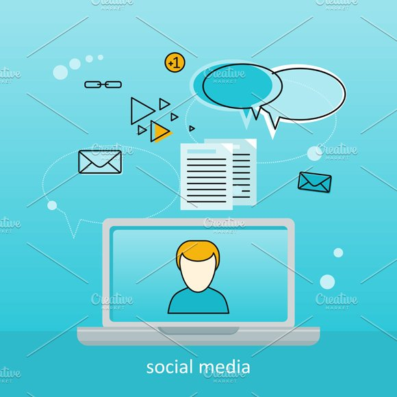 social media background illustrations creative market
