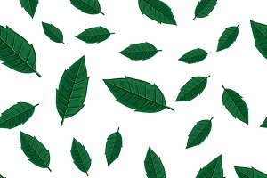 Green Leaves Seamless Patternv