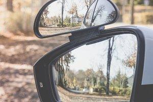 side mirror driving school