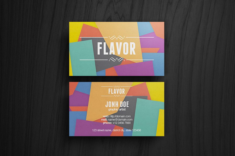 Flavor Business Card ~ Business Card Templates ~ Creative Market