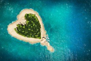 landscape of  heart island
