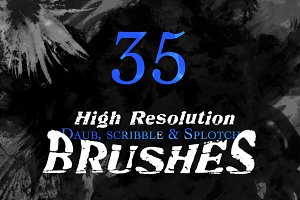 35 Watercolour Brushes