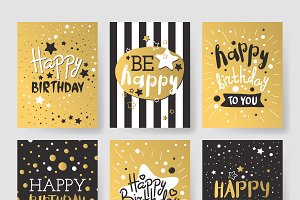 Birthday invitation cards vector