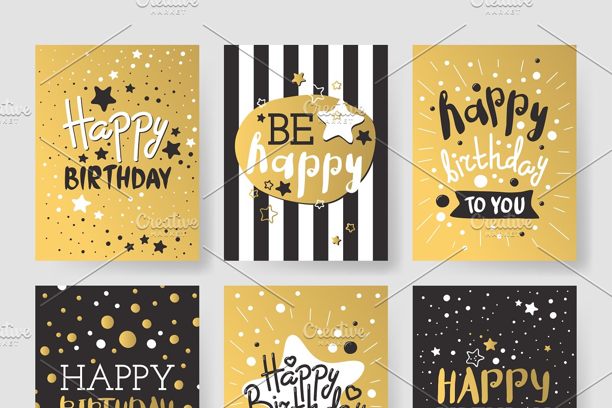 Birthday Invitation Cards Vector
