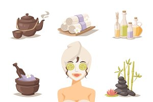 Spa beauty and body care vector