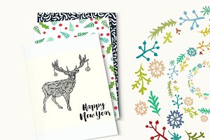 Christmas & New Year set pattern