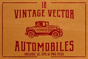 Vintage Vector Cars
