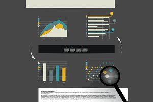 Set of business modern graphs