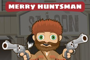 Huntsman with guns, Wild West style
