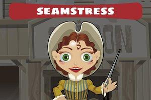 beautiful seamstress, woman
