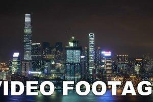Timelapse of Hong Kong illuminated
