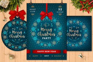 Christmas Party Poster + Card Bonus