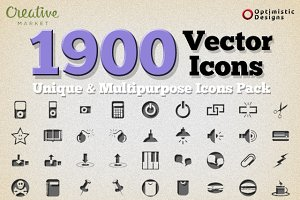 1900 Unique Vector Icons