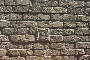 Backgroud of white bricks