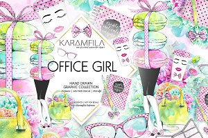Office Girl Clipart