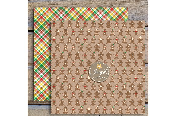 Gingerbread Digital Papers & Clipart in Patterns - product preview 2