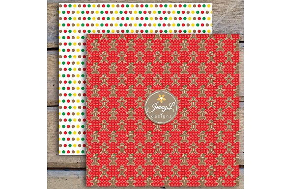 Gingerbread Digital Papers & Clipart in Patterns - product preview 4