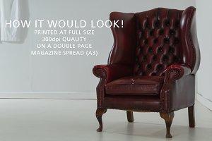 Queen Anne armchair in an empty room