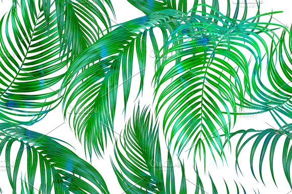 Tropical Palm Leaves Pattern Patterns On Creative Market