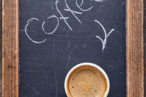 Coffee on chalk board