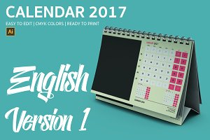 English Desk Calendar 2017 Version 1