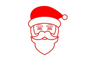 Santa Claus face icon