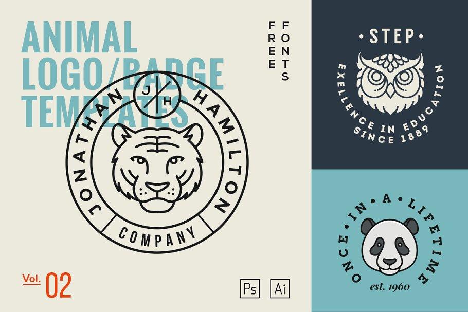 Animal Logo Badge Templates Vol 2 Logo Templates Creative Market