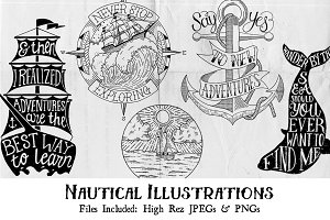 Handdrawn Nautical Illustration