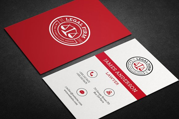 Lawyer Business Card vol.01 - Business Cards