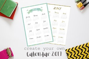 Create your own 2017 calendar