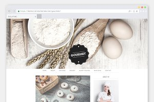 "Cooking WordPress Theme ""Gourmet"""