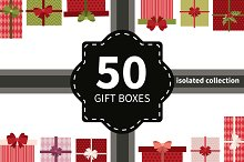 Vector gift boxes bundle