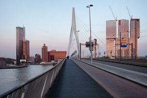 Rotterdam Downtown at Sunset
