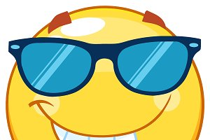 Yellow Emoticon With Sunglasses