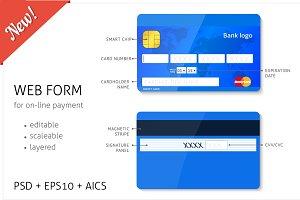 Web form - credit card elements