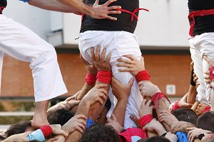 Castellers teamwork