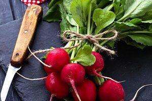 Fresh radishes