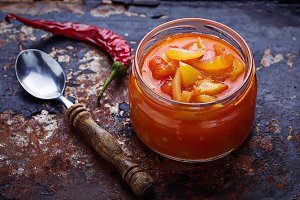 Pickled bulgarian peppers